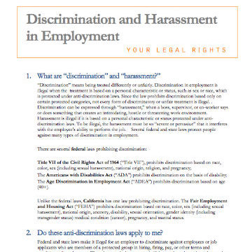Discrimination And Harassment In Employment - Sikh Coalition