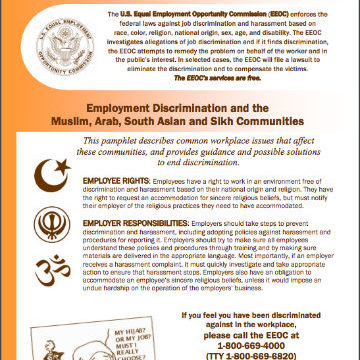 Employment Discrimination and the Muslim, Arab, South Asian, and Sikh Communities