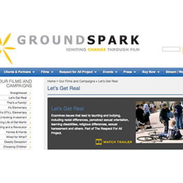 Groundspark: Lessons and Activities to Address Name-Calling and