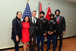 Sikh Coalition staff and clients. The Army Chief of Staff Gen. Mark A. Milley hosts the farewell of Secretary of the Army Eric K. Fanning at the Pentagon in Arlington, Va., Jan. 18, 2017 (U.S. Army photo by Eboni L. Everson-Myart)