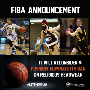FIBA announcement that they will reconsider ban on religious headwear