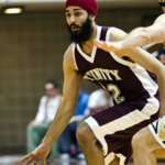 Darsh Preet Singh, the first turbaned Sikh basketball player in the NCAA.
