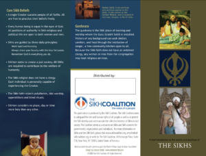 The Sikhs Brochure in English