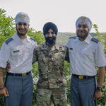 Cadets Arjan Singh Ghotra and Gurjiwan Singh Chahal successfully complete Cadet Basic Training at the prestigious United States Military Academy at West Point on August 19, 2017. Left to right: Cadet Gurjiwan Singh Chahal, Captain Simratpal Singh, Cadet Arjan Singh Ghotra.