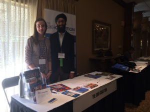 Maggie Lloyd and Damanpreet Singh attend the Florida Council for the Social Studies conference, October 2017