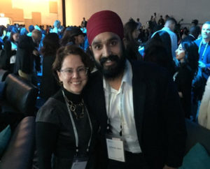 Simran Jeet Singh attends the first inaugural Obama Foundation Summit, October 2017