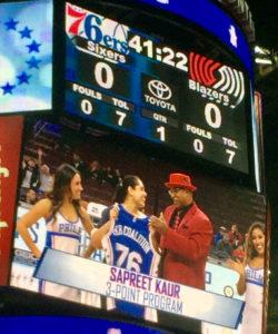 Philadelphia 76ers honor Sapreet Kaur, Sikh Heritage Night 2017