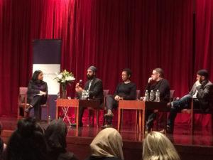 Simran Jeet speaking at a panel